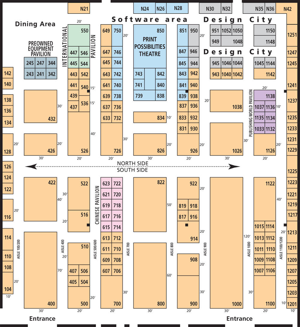 Print world trade show and conference for Trade show floor plan